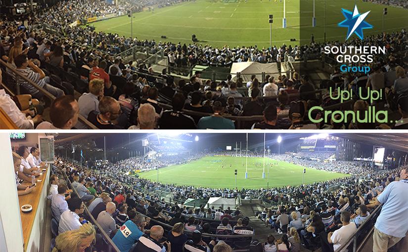 Sharks team at Southern Cross Group Stadium