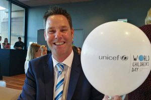 Sean Crowe-Maxwell (Head of Sales and Marketing) all smiles at the event