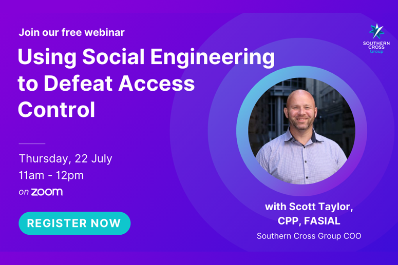 Webinar on Using Social Engineering to Defeat Access Control